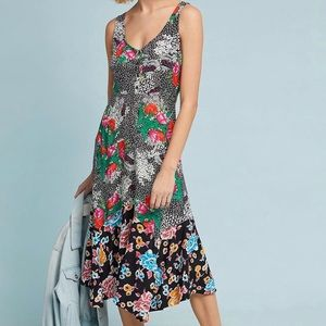 Anthropologie Maeve Violette Floral Dress